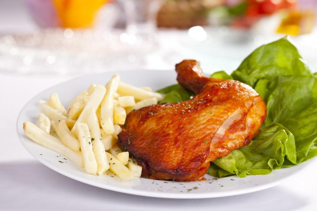 Ćwiartka kurczaka pieczona