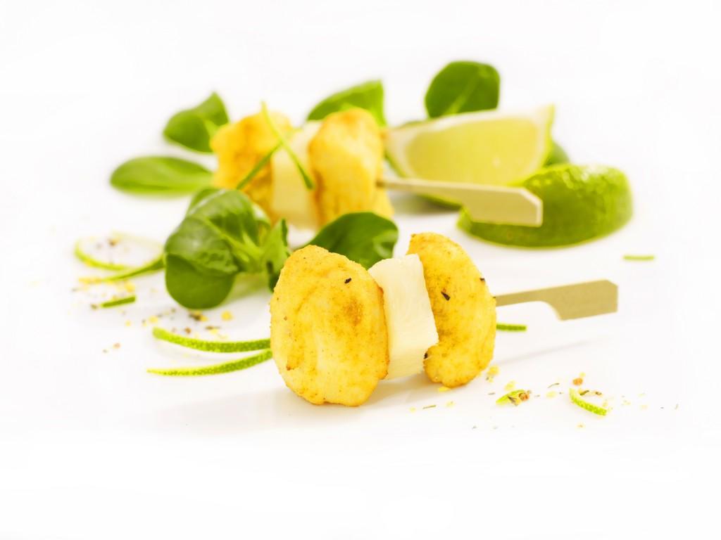 Mini szaszłyk z ananasem