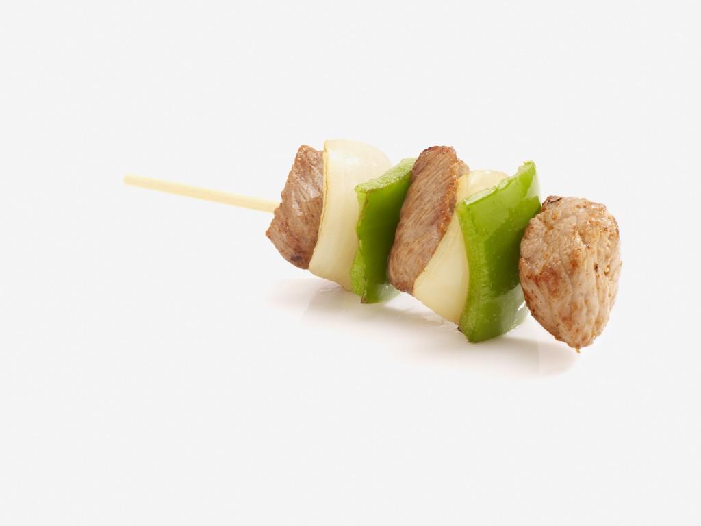 Mini szaszłyk z cebula i papryka