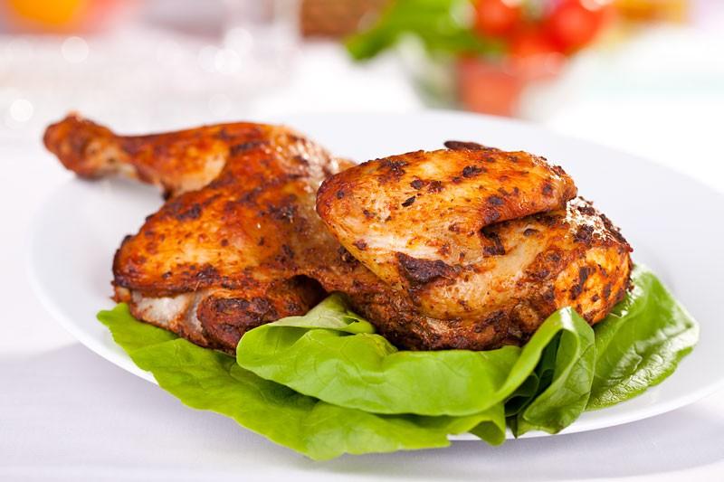 Połowa kurczaka pieczona