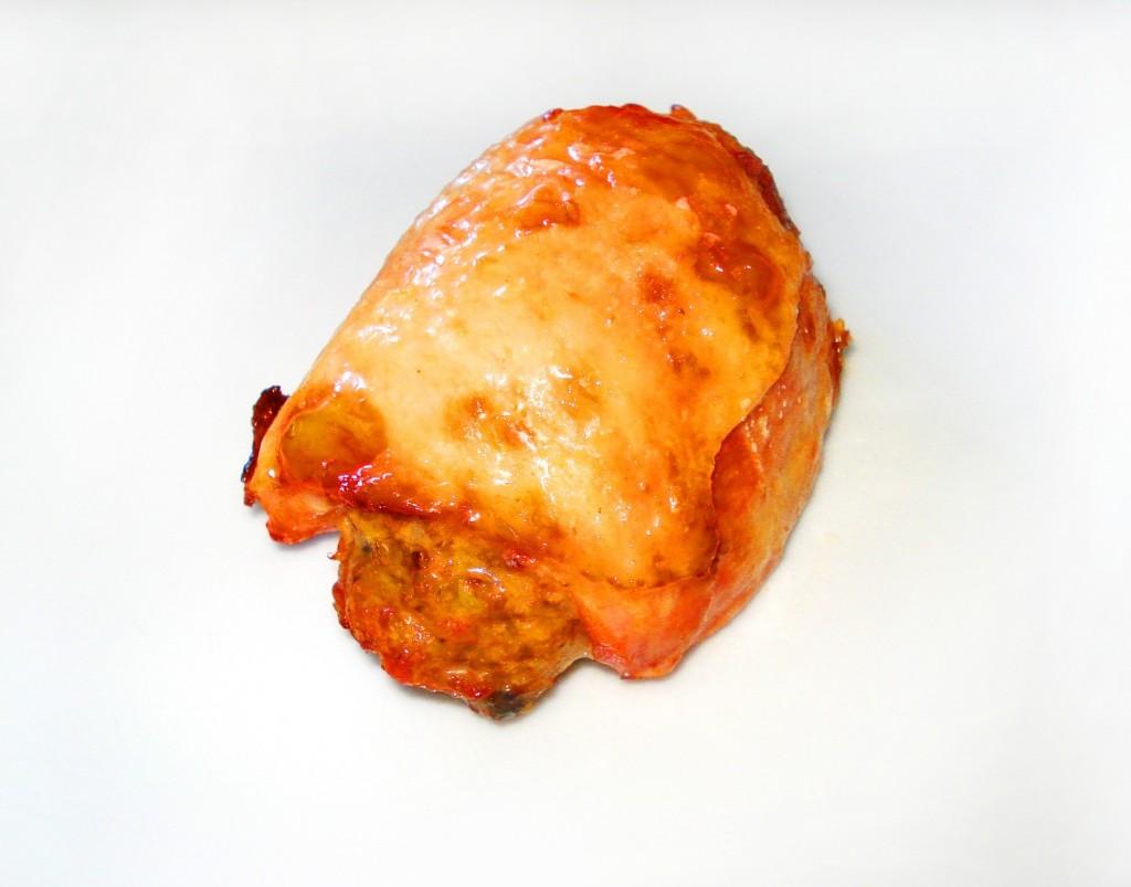 Rolada z udka kurczaka z pieczarkami